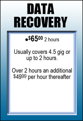 Data Recovery Information